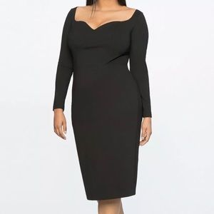 Eloquii Jason Wu Black Long Sleeve Sheath Dress